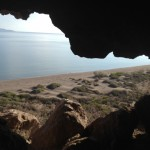 View from Pre-historic cave Sea of Cortez